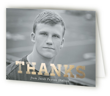 Conquering Graduate Graduation Announcement Thank You Cards