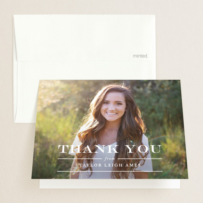 """""""Let's Celebrate the Grad"""" - Graduation Thank You Cards in Cotton by Jennifer Postorino."""
