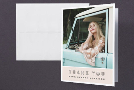 Simple Snapshots Graduation Thank You Cards