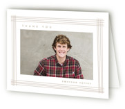 This is a brown graduation thank you card by Creo Study called Framed grad with standard printing on strathmore in standard.