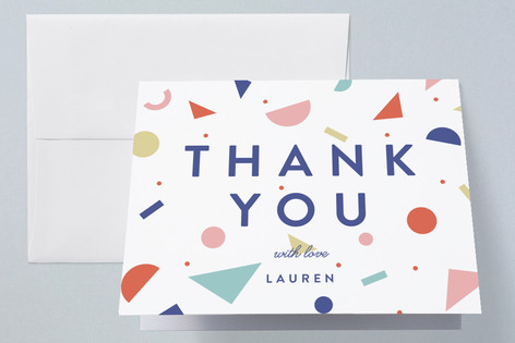 Geometric Numerals Graduation Thank You Cards