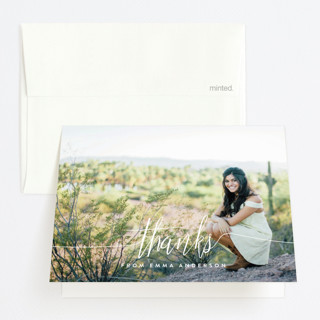 my name is Graduation Thank You Cards