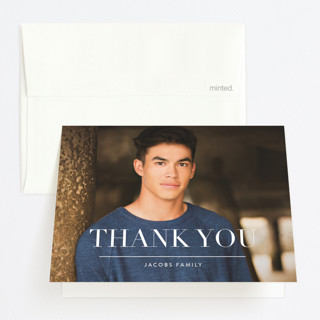 Simple Stack Graduation Thank You Cards