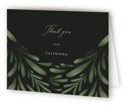 This is a green graduation thank you card by Grae Sales called Classic Foliage with standard printing on strathmore in standard.