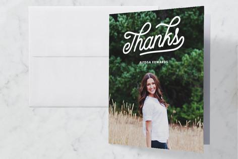 retro Graduation Thank You Cards