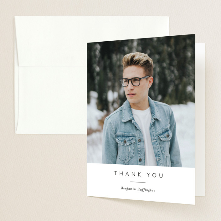 """""""Rising Success"""" - Modern Graduation Thank You Cards in Classic by Susanne Kasielke."""