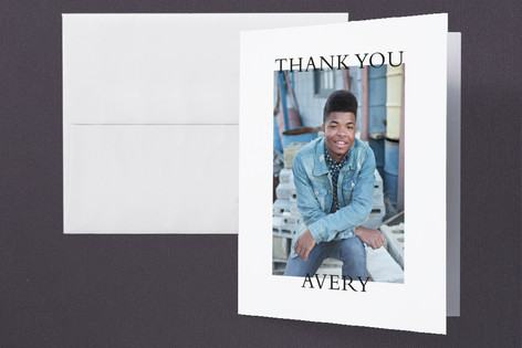 Bold Date Graduation Thank You Cards