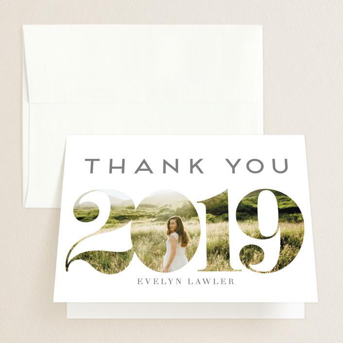 """Peeking Through"" - Graduation Thank You Cards in Timeless by Ilze Lucero."