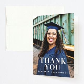 Rosy Glow Graduation Thank You Cards