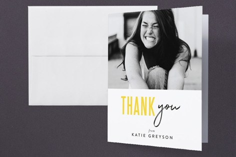 Bold Highlight Graduation Thank You Cards