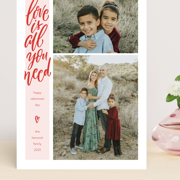 """""""Skinny Love"""" - Preppy Grand Valentine's Day Cards in Pomegranate by Laura Bolter."""