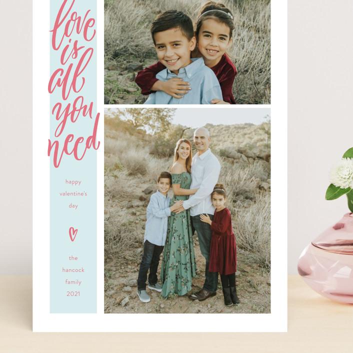 """Skinny Love"" - Preppy Grand Valentine's Day Cards in Pomegranate by Laura Bolter Design."