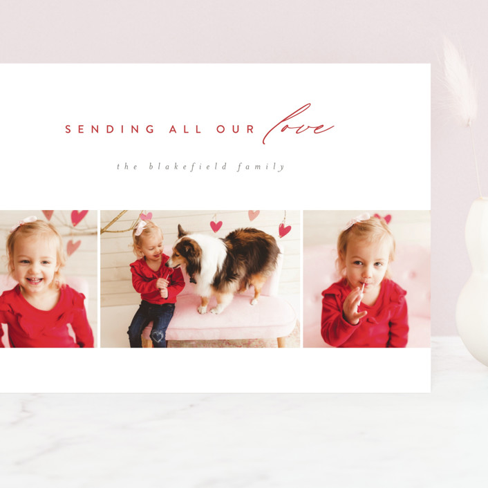 """""""Letter of Love"""" - Grand Valentine's Day Cards in Heart by Jen Banks of Ink and Letter."""