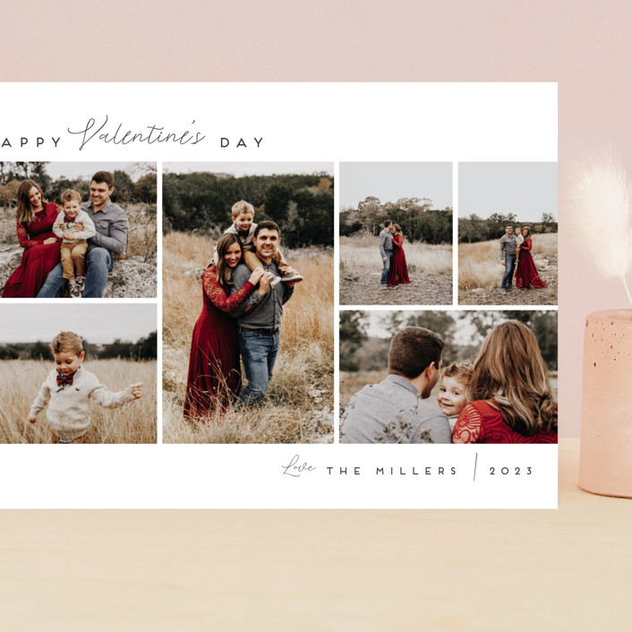 """Valentine's Photo Roll"" - Grand Valentine's Day Cards in Pearl by Nicole Walsh."