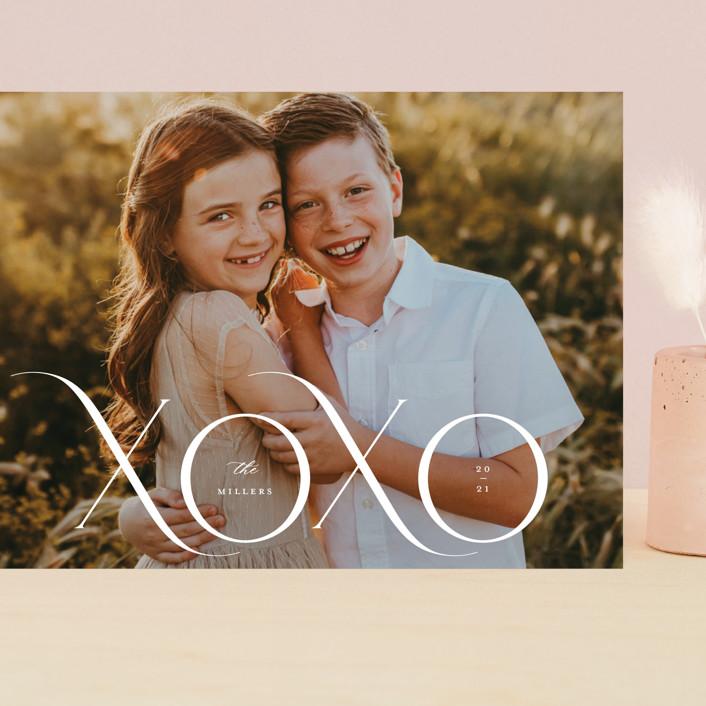 """XOXO MOD"" - Grand Valentine's Day Cards in Cream by Kristel Torralba."