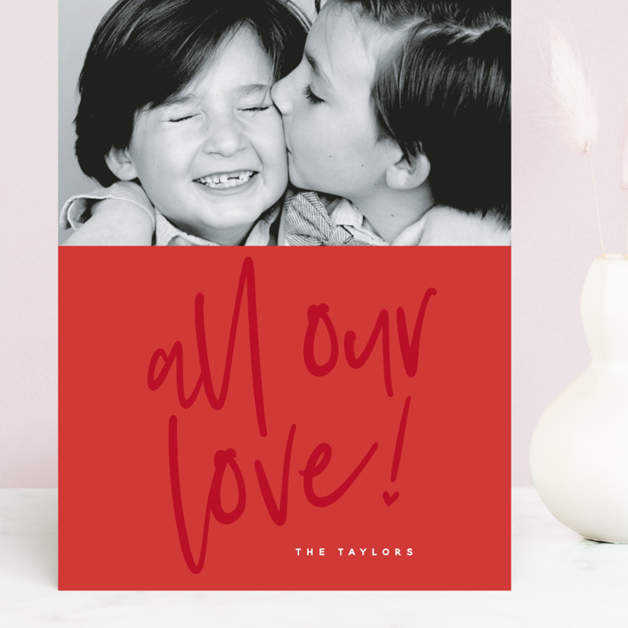 """""""Lovely love"""" - Grand Valentine's Day Cards in Berry Red by Susan Brown."""