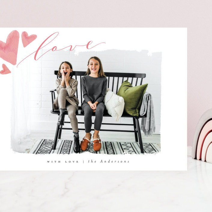 """""""Rolled With Love"""" - Grand Valentine's Day Cards in Blush by Vera Lim."""