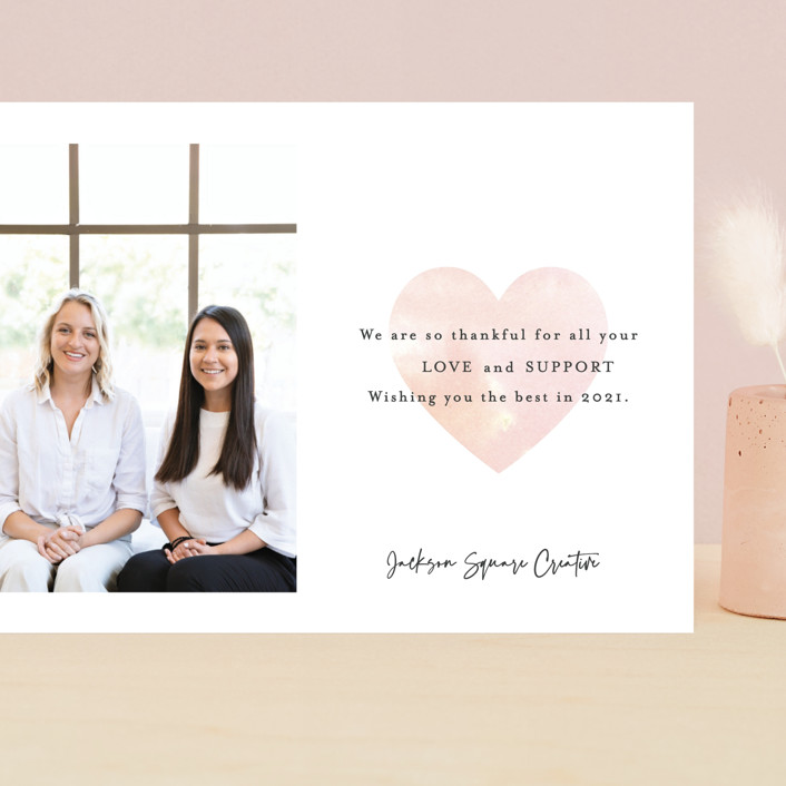 """""""Thankful for your Love"""" - Grand Valentine's Day Cards in Blush by Mansi Verma."""