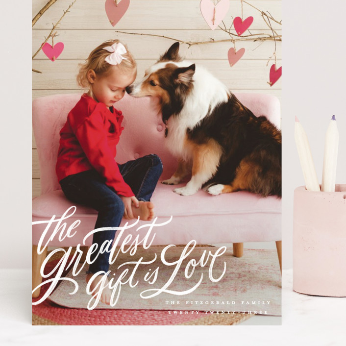 """""""the greatest gift"""" - Grand Valentine's Day Cards in Cloud by Wildfield Paper Co."""