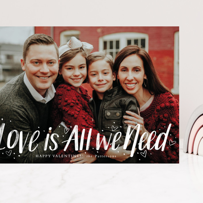 """""""Love Is All"""" - Grand Valentine's Day Cards in Ruby by Cindy Reynolds."""