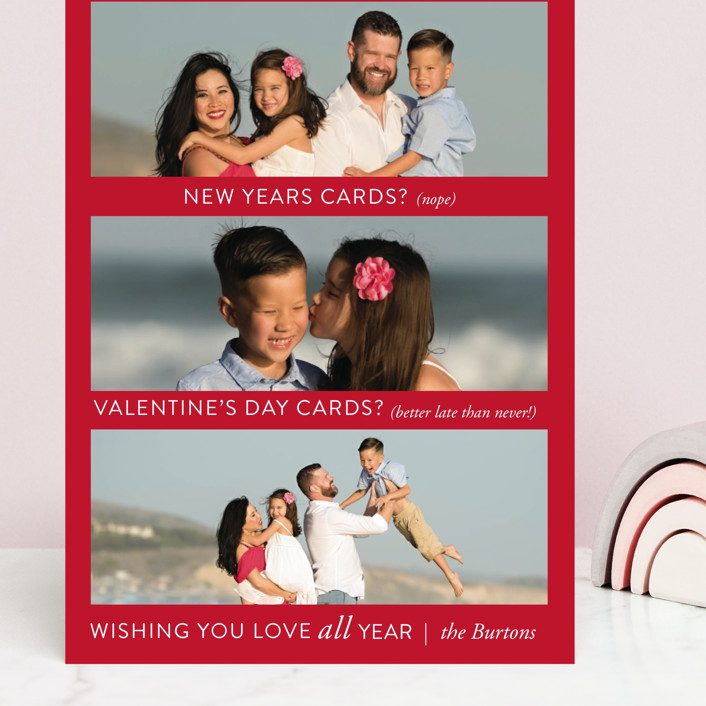 """Just Being Real"" - Funny Grand Valentine's Day Cards in Crimson by Amy Payne."