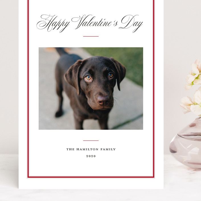 """Elegant Frame"" - Grand Valentine's Day Cards in Crimson by Annie Shapiro."