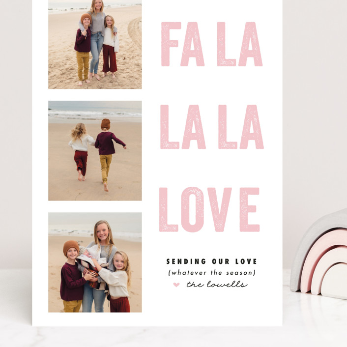 """""""FA LA Love"""" - Funny Grand Valentine's Day Cards in Peony by Susan Brown."""
