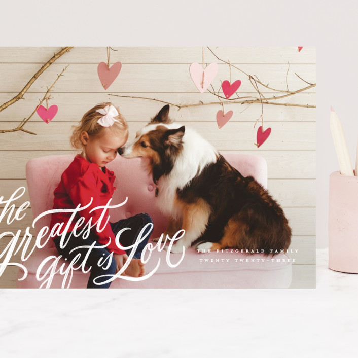 """the greatest gift"" - Grand Valentine's Day Cards in Cloud by Wildfield Paper Co."