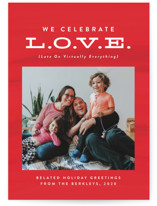This is a red valentines day by Lea Delaveris called Late On Virtually Everything with standard printing on smooth signature in grand.