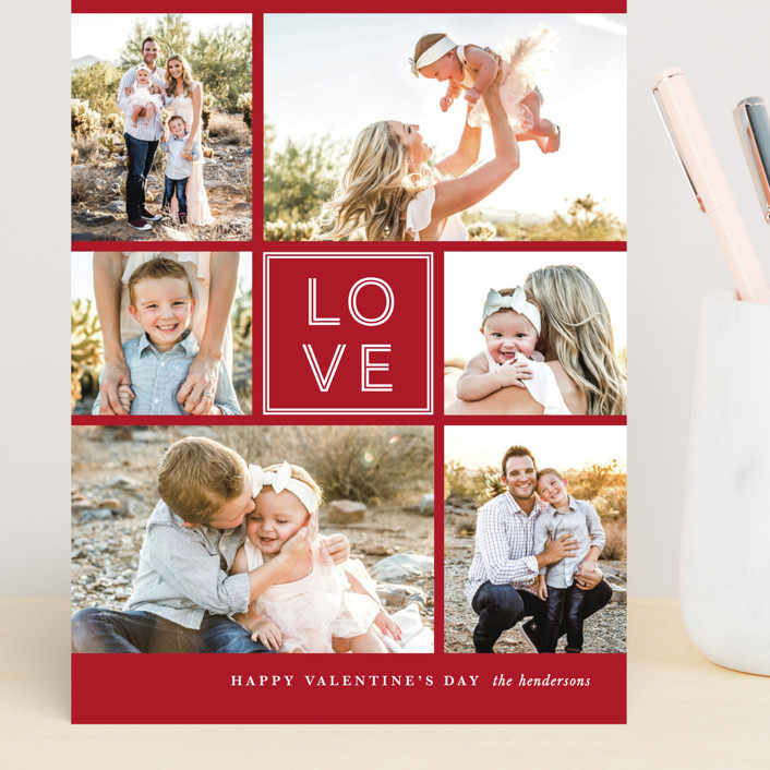 """JOY-FUL"" - Grand Valentine's Day Cards in Holly by Lauren Chism."