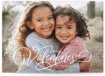 This is a white valentines day by Kristen Smith called Festive Script with standard printing on smooth signature in grand.