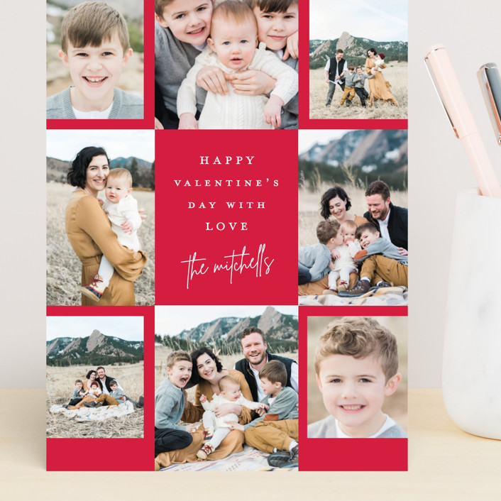 """""""Signed"""" - Preppy Grand Valentine's Day Cards in Ruby by Lauren Chism."""