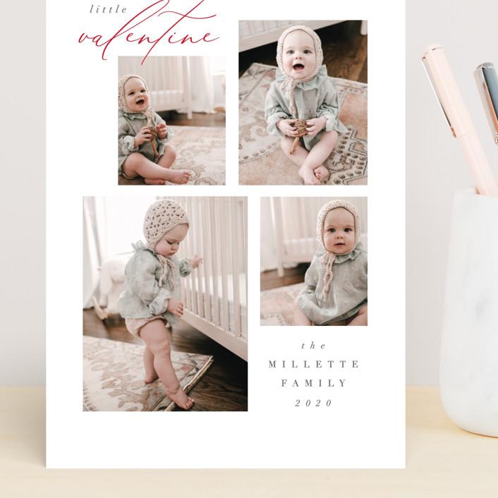 """""""Quartet"""" - Preppy Grand Valentine's Day Cards in Snow by Nicoletta Savod."""