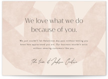 This is a pink valentines day by Corinne Malesic called Love What We Do with standard printing on signature in grand.