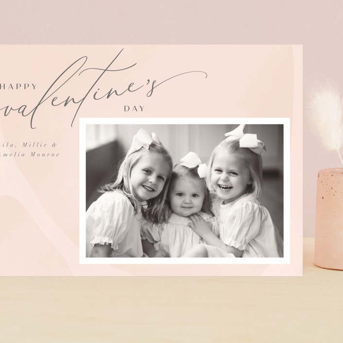 """Delight"" - Grand Valentine's Day Cards in Blush by Nicoletta Savod."