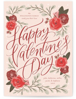 This is a pink valentines day by Erin German called Vintage Floral Valentine with standard printing on signature in grand.