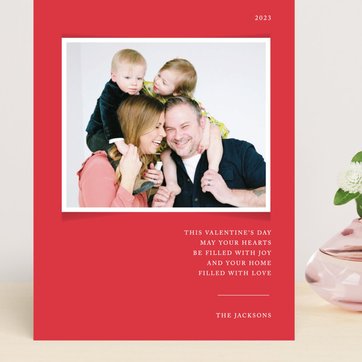 """""""Simplicity"""" - Grand Valentine's Day Cards in Cardinal by That Girl Press."""