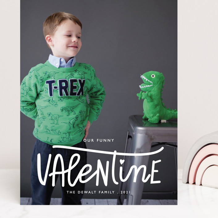 """""""Our Funny Valentine"""" - Funny Grand Valentine's Day Cards in Crimson by Bethany Anderson."""