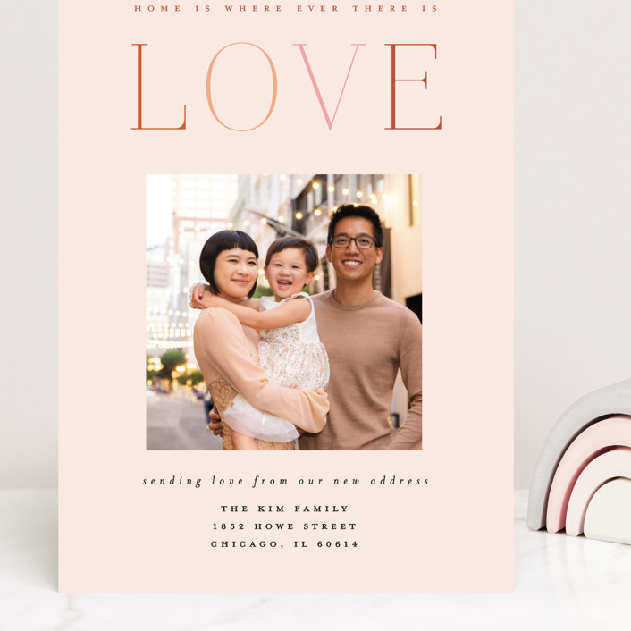 """""""Rainbow of Love"""" - Grand Valentine's Day Cards in Blush by Morgan Kendall."""