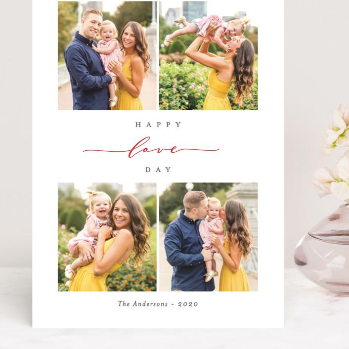 """Elegant Valentine"" - Grand Valentine's Day Cards in Strawberry by Ana Sharpe."
