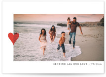 This is a red valentines day by Up Up Creative called Modern Heart with standard printing on smooth signature in grand.