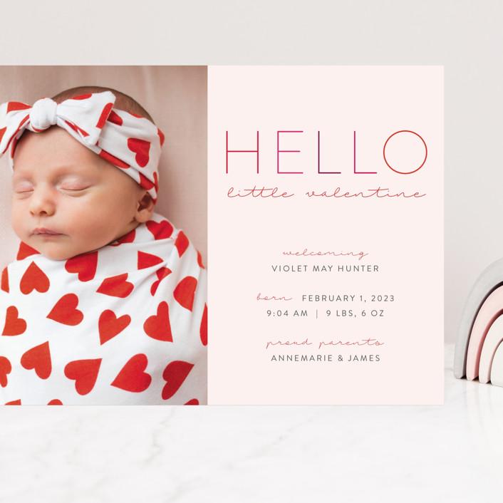 """""""Little Valentine"""" - Grand Valentine's Day Cards in Blush by Nicoletta Savod."""