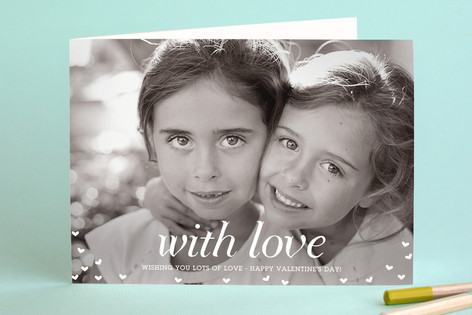 With Love Valentine's Day Greeting Cards