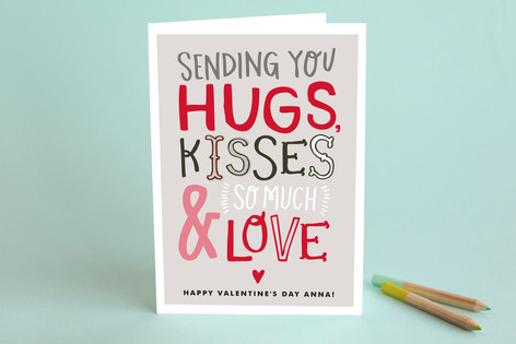 Doodle Words Valentine's Day Greeting Cards