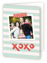This is a blue greeting card by Guess What Design Studio called Washi Love with standard printing on signature.