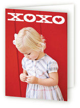 This is a white greeting card by Hooray Creative called Bold XOXO with standard printing on signature.