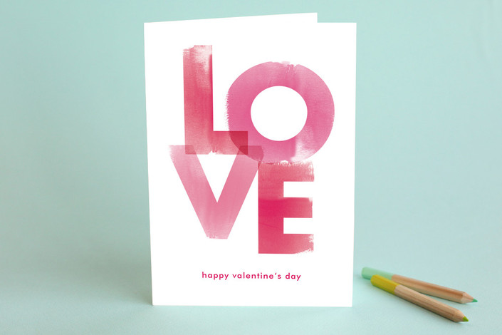 Watercolor Love Valentines Day Greeting Cards by   Minted