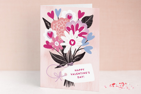 Bouquet of Hearts Valentine's Day Greeting Cards