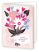 This is a pink greeting card by Alethea and Ruth called Bouquet of Hearts with standard printing on signature.