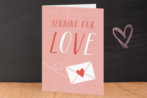 Sending Love Valentine's Day Greeting Cards